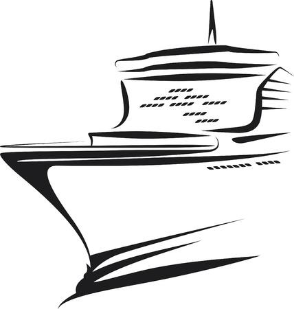 navy ship: barco  Vectores