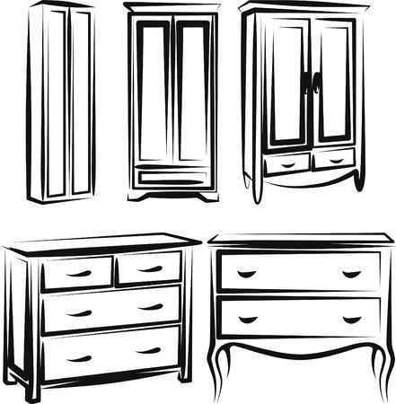 cabinet: wardrobe