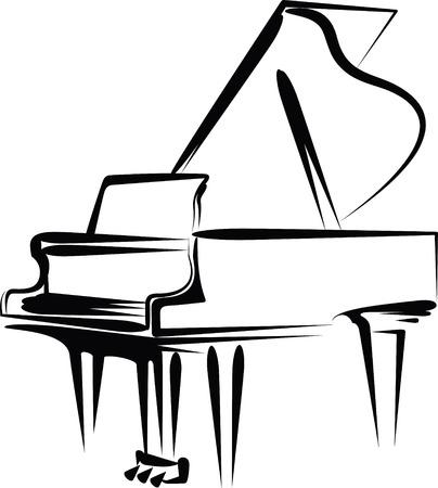 single sketch: piano