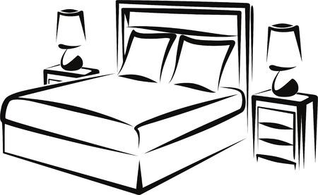 headboard: bedroom Illustration