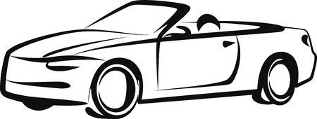 convertible: car Illustration