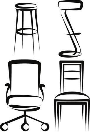 escabeau: ensemble de chaises