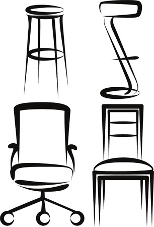 stool: set of chairs