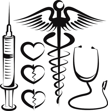 set of medical signs Vector