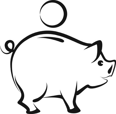 savings account: moneybox Illustration