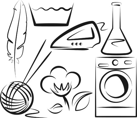 washing symbol: washing Illustration