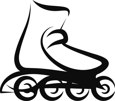 roller skating: roller skate Illustration