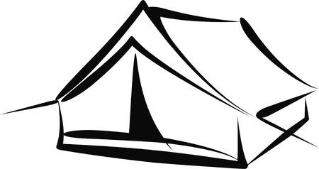 pfadfinderin: Zelt Illustration