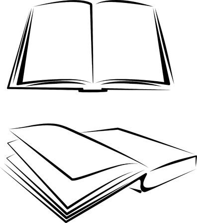 leggere rivista: set di libri Vettoriali