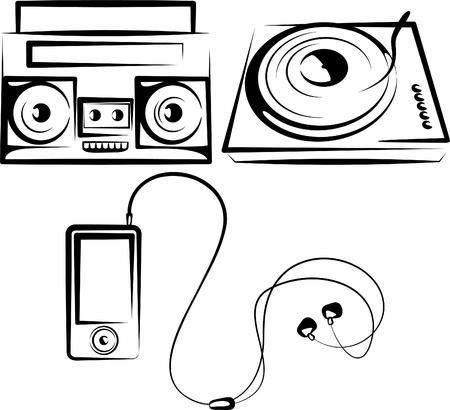 set of music equipment Stock Vector - 9507482