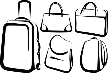 set of bags Vector