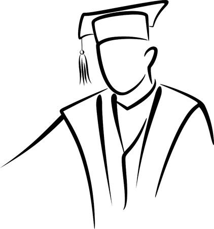 cap and gown: graduate concept Illustration