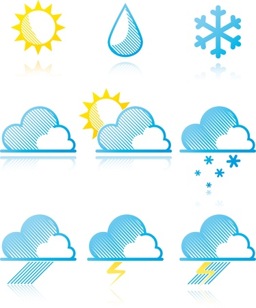 Weather forecast icons. Stock Vector - 9507494