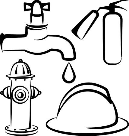 brandveiligheid artikelen Vector Illustratie