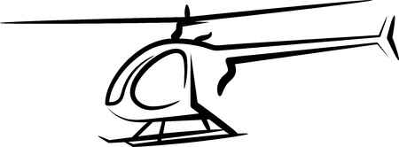 helicopters: illustration with a helicopter Illustration