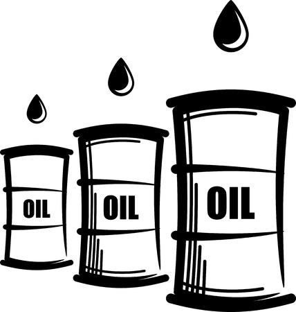 oliedrum: eenvoudige illustratie met olie vaten