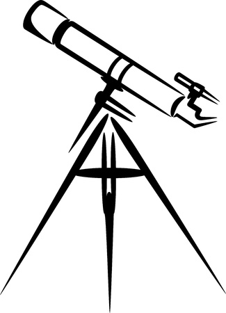 simple illustration with telescope Stock Vector - 9717831