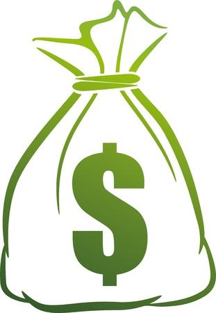 geld: illustratie met geldbuidel