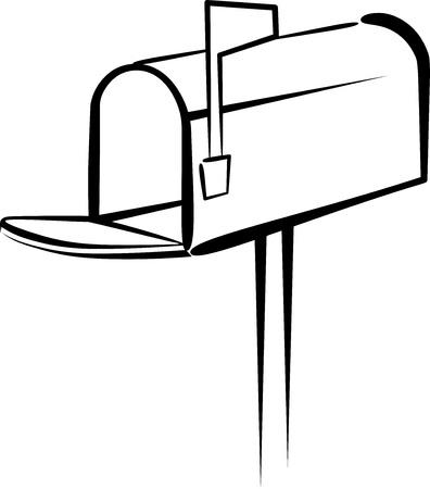 buzon de correos: Ilustraci�n simple con un buz�n de correo Vectores