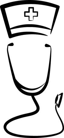 estetoscopio: Ilustraci�n simb�lica con un m�dico