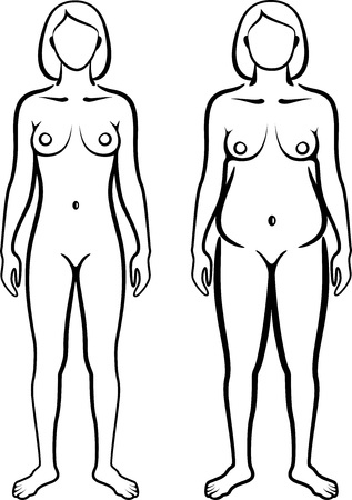 adult nude: set of female body types