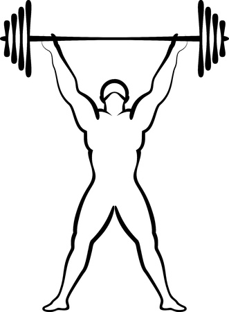 levantamiento de pesas: Halterofilia Vectores