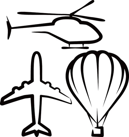 heli: simple illustration with air transport