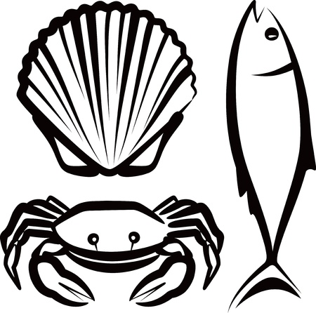clams: simple illustration with seafood