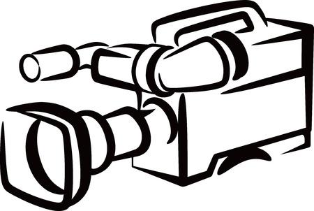 filming: camera Illustration