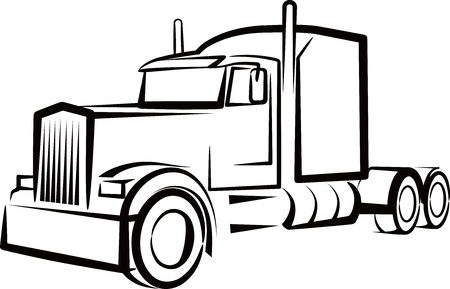 simple illustration with a truck Stock Vector - 9889170