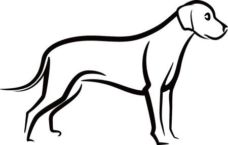 patas de perros: Ilustraci�n simple con un perro