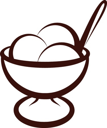 simple illustration with an ice-cream Stock Vector - 10064648