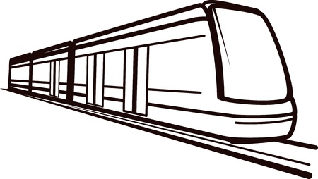 fast train: Illustration of a railway transportation