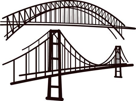 set of bridges Illustration