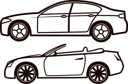 mode of transportation: Collezione di auto Vettoriali