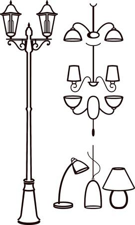 lamp posts: lighting equipment