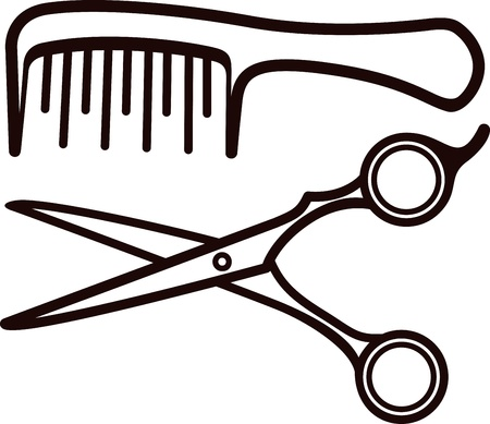 men hair style: Scissors and comb