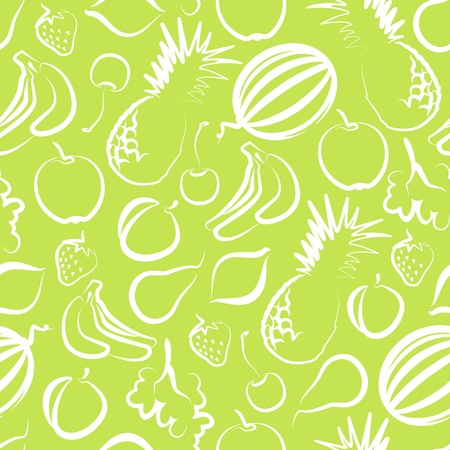 seamless background with fruit Stock Vector - 10232437