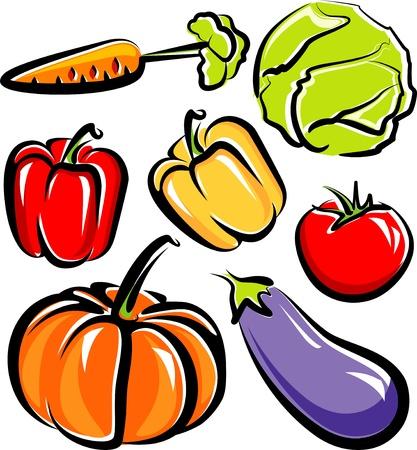 cabbage: groenten Stock Illustratie