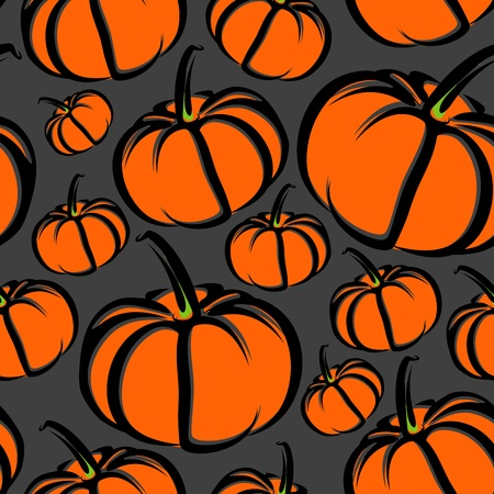 seamless background with pumpkins Stock Vector - 13009304