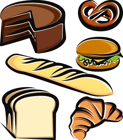 Illustration with a set of baking items Vector