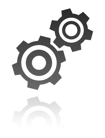 gear motion: gear icon