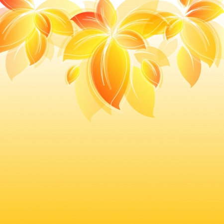 gold leaf: background with yellow leaves Stock Photo