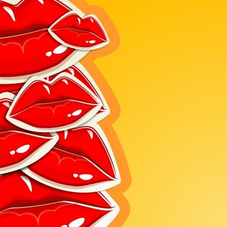 beso labios: fondo con los labios