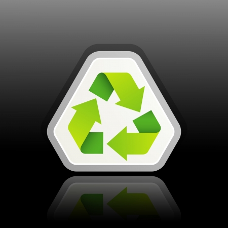 green recycle symbol Stock Vector - 18497210