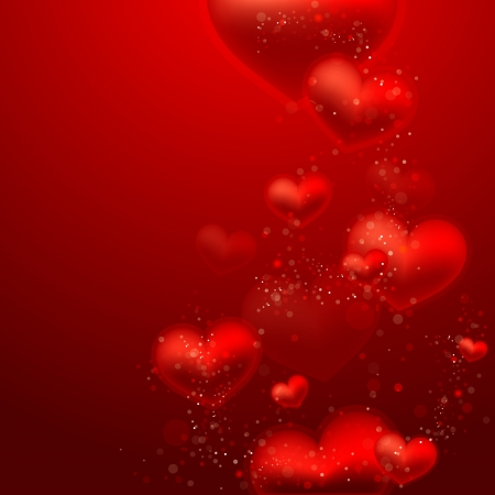 Valentine`s Day background with hearts Vector