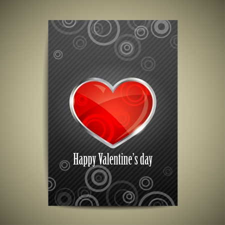 Valentine`s Day card with heart Stock Vector - 18826321