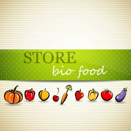 food stores: store advertising sign