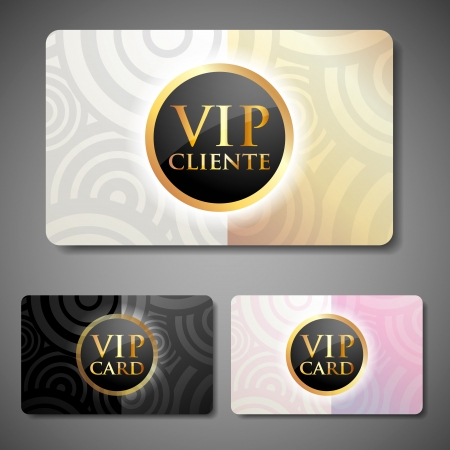 vip cards set Vector