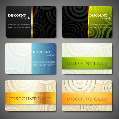 print shop: set of discount cards
